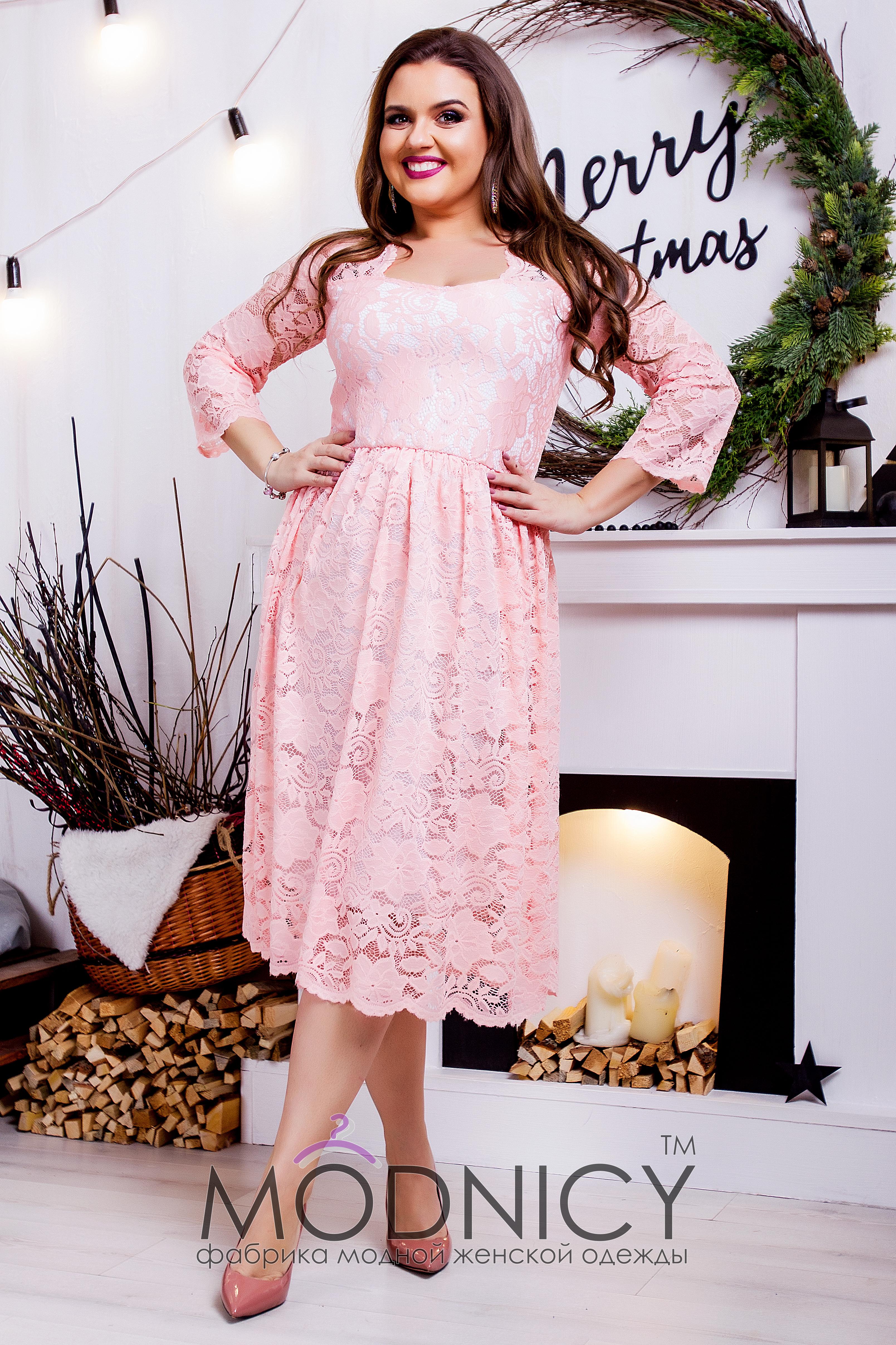 a9f96caf681 Купить гипюровое платье миди 3674 бутылочный цвет