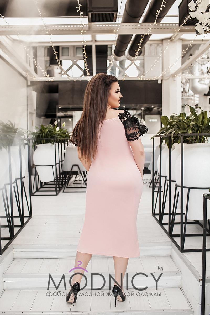 2b0d52de993 Купить коктейльное платье 03728 пудра цвет