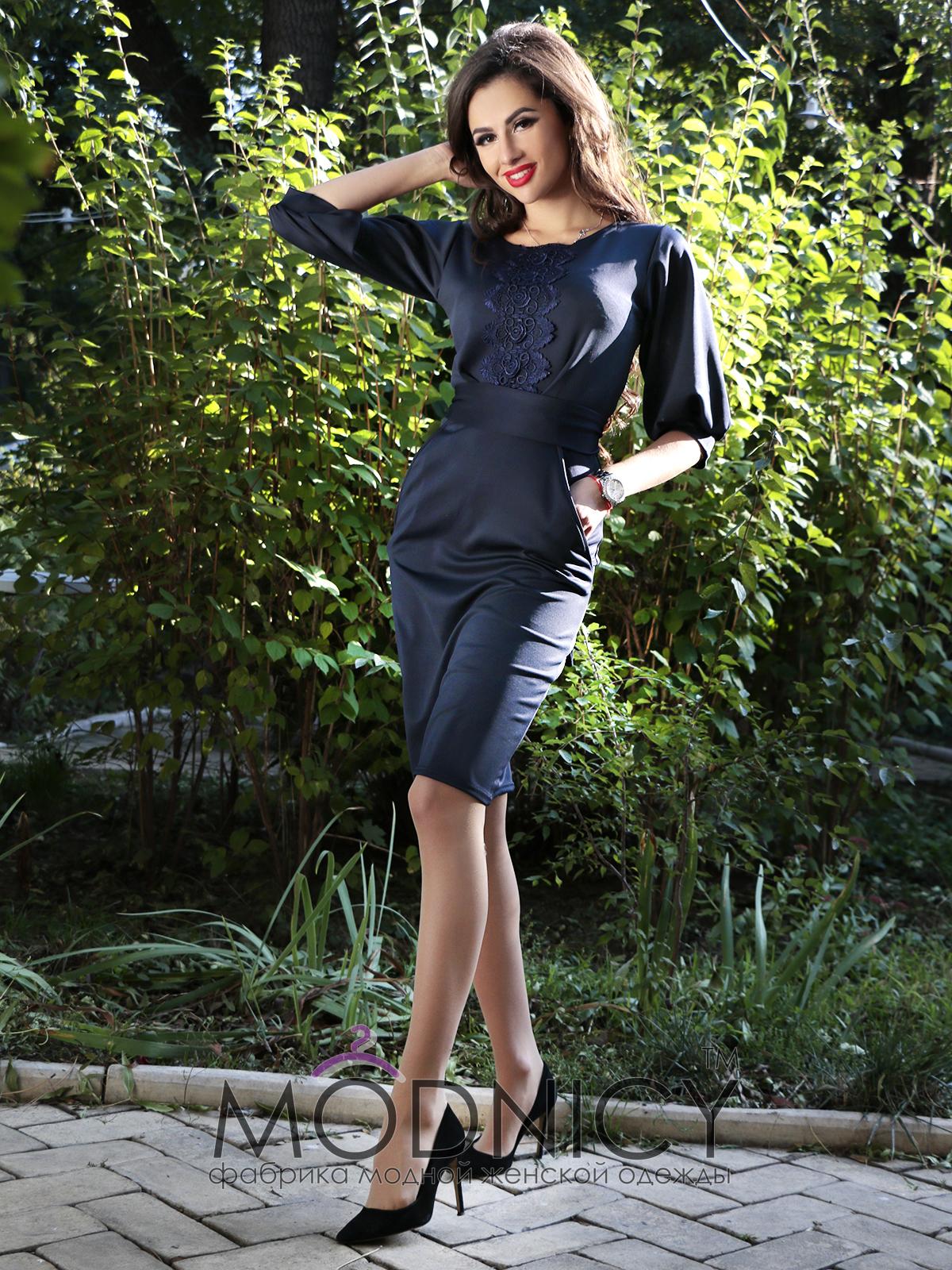 Купить платье 3618 тёмно-синий цвет 692b283f6ee
