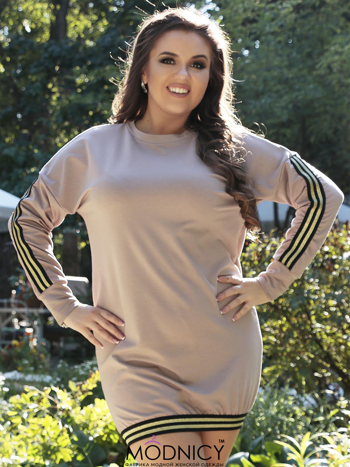 Купить платье - туника 3632 пудра цвет 95345266633