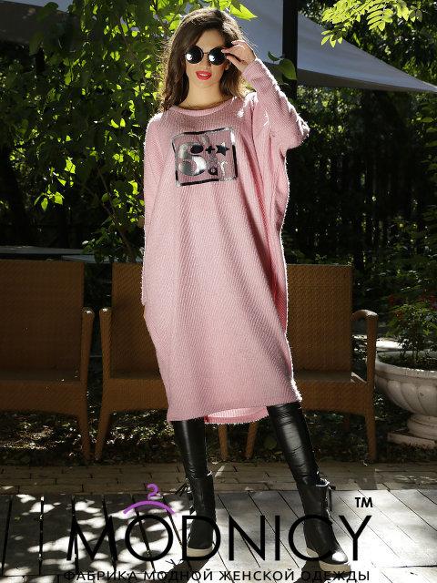 Купить теплое платье в стиле оверсайз 3620 фрез цвет 0614809789d