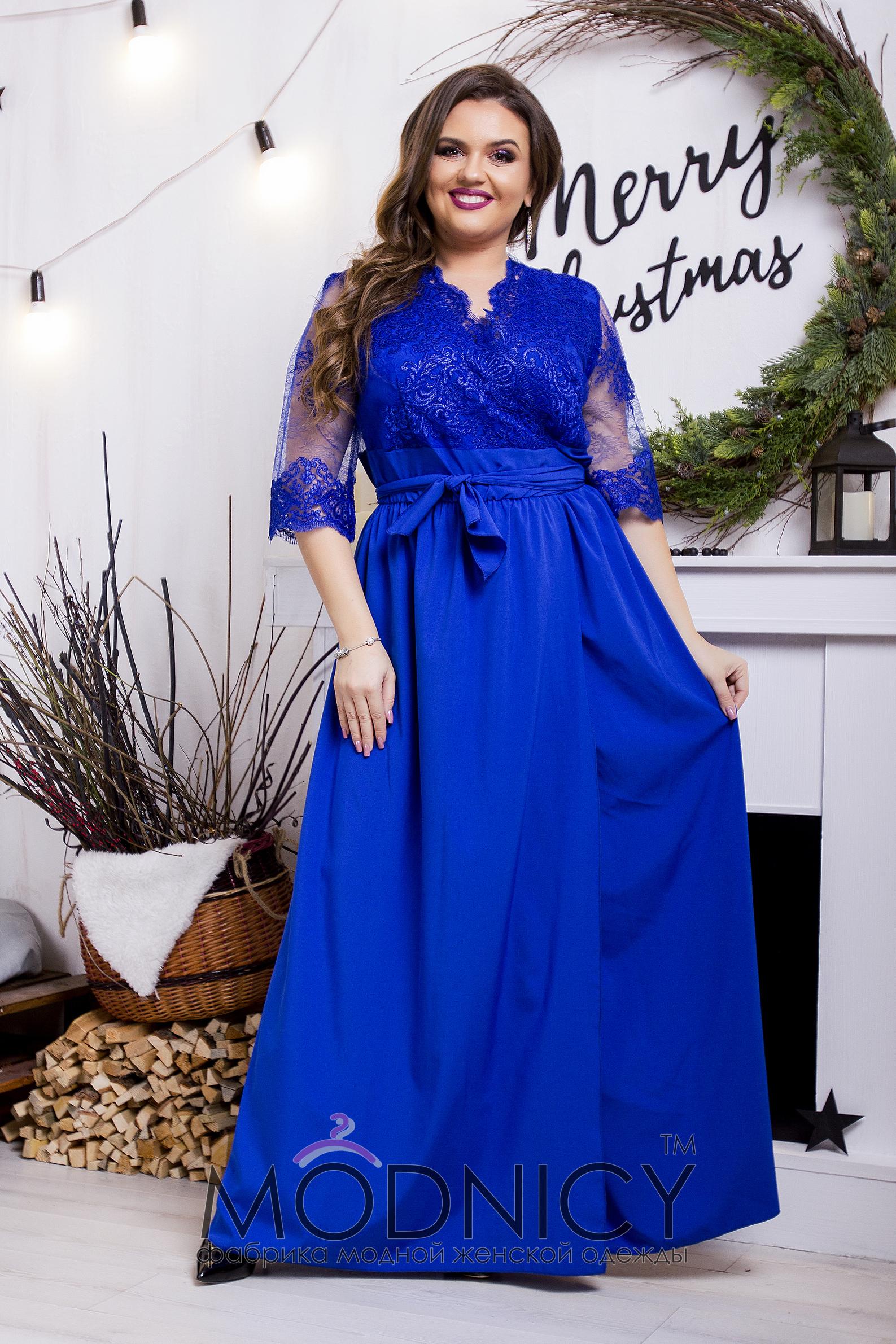 Длинные платье больших размеров оптом и в розницу по выгодным ценам